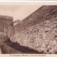 Postales: TARRAGONA MURALLA TORRE DEL ARZOBISPO. ED. TAU, HUECOGRABADO MUMBRU Nº 30. SIN CIRCULAR. Lote 262620025
