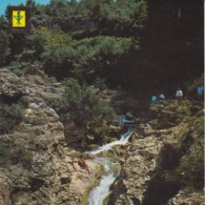 Postales: SAN QUINTIN DE MEDIONA (BARCELONA) CASCADA PRINCIPAL – ESCUDO DE ORO Nº5 – ESCRITA. Lote 262627980
