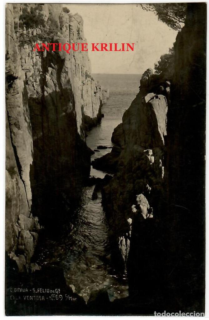SANT FELIU DE GUIXOLS Nº 69 CALA VENTOSA / FOTO MUR (Postales - España - Cataluña Antigua (hasta 1939))