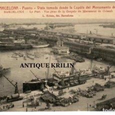 Postales: BARCELONA Nº 10 VISTA TOMADA DESDE LA CUPULA DEL MONUMENTO A COLÓN / ROISIN. Lote 262866230