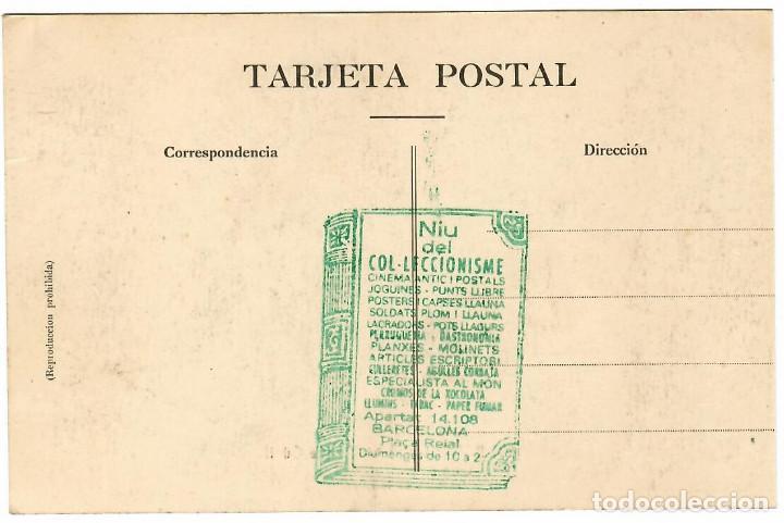 Postales: BARCELONA Nº 68 PARQUE GÜELL ORIGINALES PORTICOS / FOTO L. ROISIN - Foto 2 - 262905900
