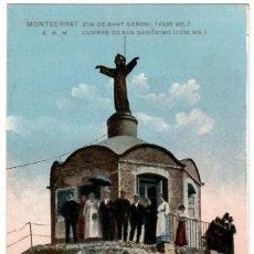 Postales: MONTSERRAT / CIM DE SANT GERONI / EDICION E.M.M. KUNSTANSTALT THEODOR Nº 60. Lote 262909240