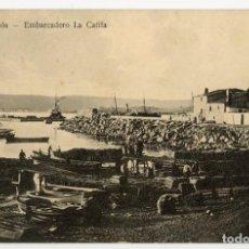 Postales: A06743 PALAMOS EMBARCADERO LA CATIFA GUTEMBERG CIRCULADA 1912. Lote 262938870