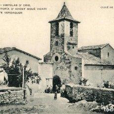 Postales: A06744 VINYOLAS D' ORIS ESGLESIA Y RECTORIA D' AHONT SIGUE VICARI MOSSEN JASCINTE VERDAGUER APEC Nº2. Lote 262939110