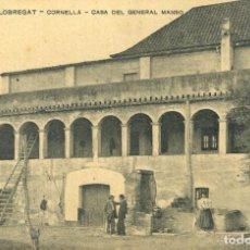 Postales: A06745 CORNELLA DE LLOBREGAT CASA DEL GENERAL MANSO APEC Nº202. Lote 262939285