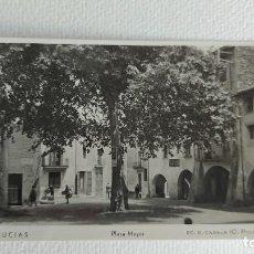 Postales: T-816.- POSTAL FOTOGRAFICA DE -- ARBUCIAS -- PLAZA MAYOR .- ED. E. CASALS ( C. PICONAIRE ) SIN CIRCU. Lote 262940595