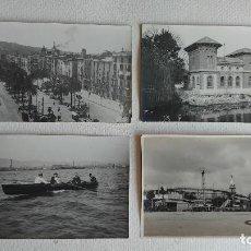Postales: T-817.- LOTE DE 4 PIEZAS .- 3 POSTALES FOTOGRAFICAS Y 1 FOTOGRAFIA DE -- BARCELONA , POSTALES KNOSA. Lote 262941260