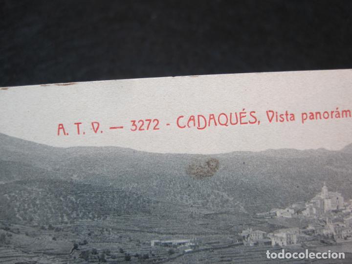 Postales: CADAQUES-DOBLE-VISTA PANORAMICA-ATV 3272 A.T.V.-POSTAL ANTIGUA-(80.690) - Foto 3 - 262952805