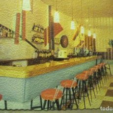 Postales: POSTAL HOTEL ROSALEDA PLAYA DE ARO.-BAR CM. Lote 263002520