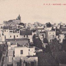 Postales: BARCELONA MATARO VISTA PARCIAL. ED. P.V.F. SIN CIRCULAR. Lote 263581160