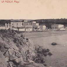 Postales: GIRONA LA FOSCA PLAYA . ED. LLORENS CASTELLO PALAMOS. SIN CIRCULAR. Lote 263582330