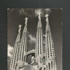 Postales: POSTAL CIRCULADA BARCELONA 6002 TEMPLO DE LA SAGRADA FAMILIA EDITA SOBERANAS. Lote 263698650