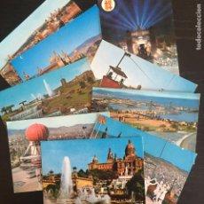 Cartes Postales: LOTE DE 9 POSTALES DISTINTAS DE BARCELONA CAPITAL - MONTJUÏC. Lote 263784630