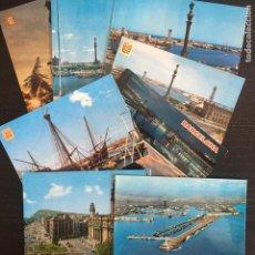 Cartes Postales: LOTE DE 8 POSTALES DISTINTAS DE BARCELONA CAPITAL - PUERTO PORT. Lote 263785365