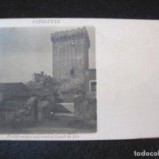 Postales: CASTELLDEFELS-FORTIFICACIONS MEDIEVALS-FOTOGRAFICA GUILLEMINOT-POSTAL ANTIGUA-(80.785). Lote 264055365
