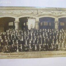 Postales: BARCELONA-ORFEON DONOSTIARRA (SAN SEBASTIAN)-JUNIO 1910-FOTOGRAFICA-POSTAL ANTIGUA-(80.828). Lote 264260744