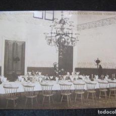 Postales: CALDAS DE MONTBUY-GRAN BALNEARIO BROQUETAS-SALON COMEDOR-FOTOGRAFICA-POSTAL ANTIGUA-(80.852). Lote 264424134