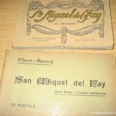 Postales: 2 ALBUM BLOC POSTALES POSTAL SANT MIQUEL DEL FAY FAI . GRAN FONDA - ROISIN. Lote 265569974