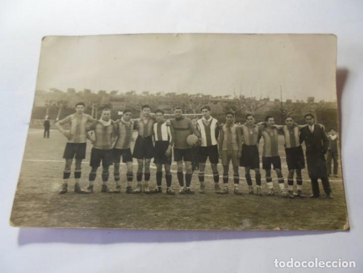 MAGNIFICA ANTIGUA FOTOS TARJETA POSTAL EQUIPO DE FUTBOL DEL ESPARRAGUERA SOBRE 1930 (Postales - España - Cataluña Antigua (hasta 1939))