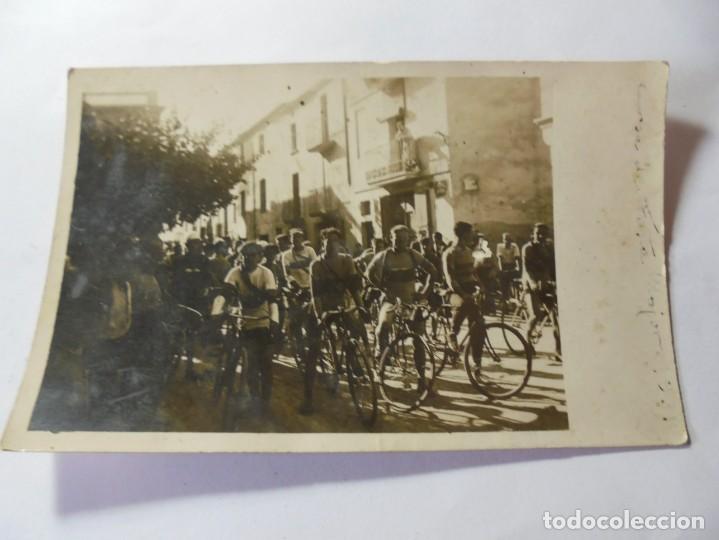 MAGNIFICA ANTIGUA FOTOS TARJETA POSTAL FIESTA MAYOR DE ESPARRAGUERA CICLISTAS FECHADA 1931 (Postales - España - Cataluña Antigua (hasta 1939))