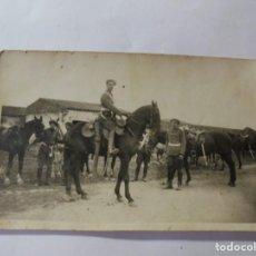 Postales: MAGNIFICA ANTIGUA FOTOS TARJETA POSTAL MILITARES ALREDEDORES DE ESPARRAGUERA 1930. Lote 266885769