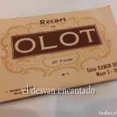 Postales: OLOT. BLOC DE 20 POSTALES A ESTRENAR. EDITOR: RAMON BONET. Lote 267334029