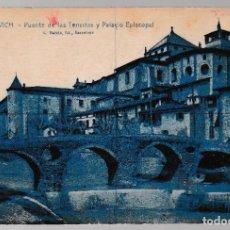 Postales: T - BARCELONA - VICH - VIC PUENTE DE LAS TENERIAS Y PALACIO EPISCOPAL. Lote 268119879