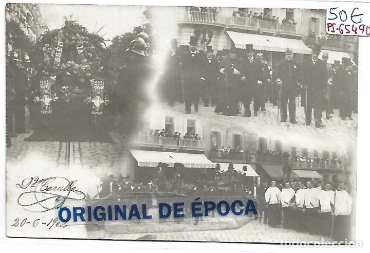 (PS-65490)POSTAL FOTOGRAFICA ENTIERRO JACINTO VERDAGUER.GRAN HOTEL RESTAUTANT DE INGLATERRA 1902 (Postales - España - Cataluña Antigua (hasta 1939))
