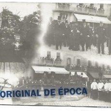 Postais: (PS-65490)POSTAL FOTOGRAFICA ENTIERRO JACINTO VERDAGUER.GRAN HOTEL RESTAUTANT DE INGLATERRA 1902. Lote 268126894