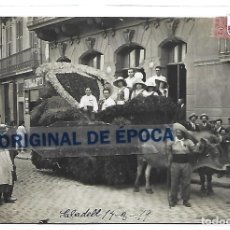 Postales: (PS-65518)POSTAL FOTOGRAFICA DE SABADELL-FIESTA MAYOR.CARROZA. Lote 268733819