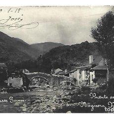 Postales: (PS-65531)POSTAL FOTOGRAFICA DE ESTERRI-PUENTE SOBRE EL NOGUERA PALLARESA.COMERCIO CASES SANSI. Lote 268737484