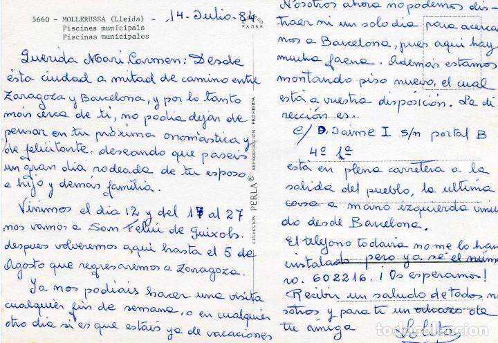 Postales: MOLLERUSSA - PISCINES MUNICIPALS - Foto 2 - 268741809