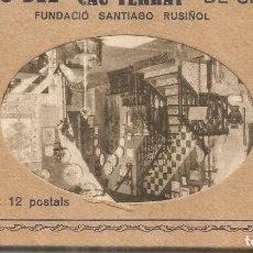 Postales: SITGES BARCELONA ESTUCHE CON 12 POSTALES MUSEU DEL CAU FERRAT FUNDACIO SANTIAGO RUSIÑOL. Lote 268797149
