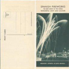 Postales: PIROTECNIA ESPINOS REUS SPANISH FIREWORKS NEW YORK POST CARD ANTIGUA POSTAL AGENTE U.S.A.. Lote 268818374