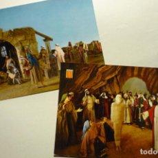 Postales: LOTE POSTALES LA PASION DE OLESA DE MONTSERRAT. Lote 268901579