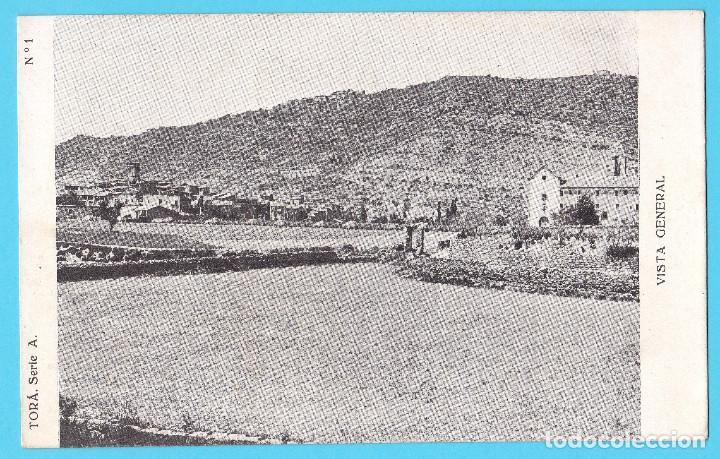 Nº1. TORÀ SERIE 1. VISTA GENERAL CIRCULADA CON SELLO EN 1931. (Postales - España - Cataluña Moderna (desde 1940))