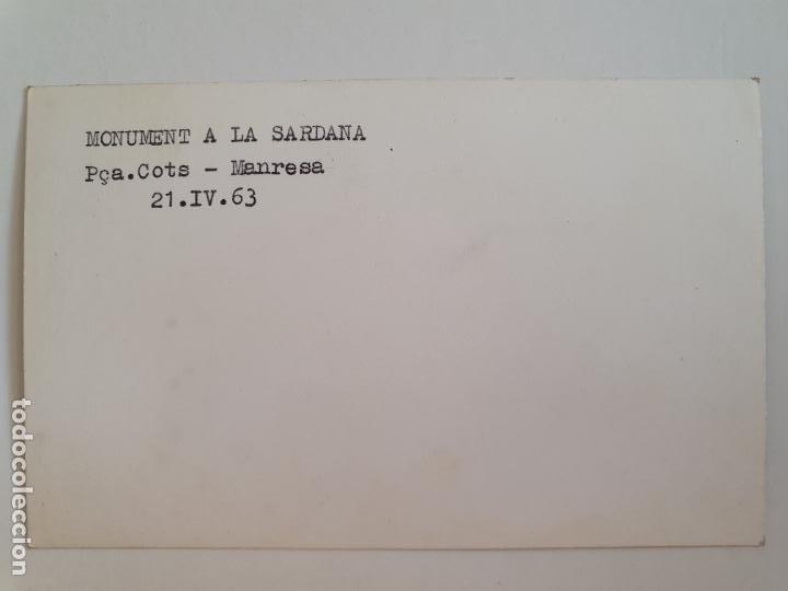 Postales: MANRESA - MONUMENT A LA SARDANA - PLAÇA COTS 1963 - LAXC - P52030 - Foto 2 - 269144453