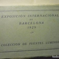 Postales: CARPETA POSTALES BARCELONA -1929 EXPOSICION INT.BARCELONA FUENTES LUMINOSAS CM. Lote 269175503