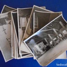 Postales: (F-210602)LOTE DE 12 FOTOGRAFIAS DE VALLS-TALLERES MECANICOS ARISTIDES FORES.FOTO GURI. Lote 269366263