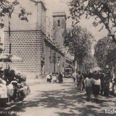 Postales: (2400) POSTAL BARCELONA - RAMBLAS Y BELEN (ANIMADA) - ZERKOWITZ - S/CIRCULAR. Lote 269455448