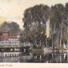 Postales: BARCELONA PARQUE EL LAGO. ED. LUIS BARTRINA, AUTOCROMO THOMAS Nº 1045. REVERSO SIN DIVIDIR. Lote 269464638