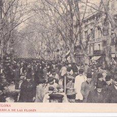 Postales: BARCELONA RAMBLA DE LAS FLORES. ED. LB LUIS BARTRINA, FOTOTIPIA THOMAS Nº 205. REVERSO SIN DIVIDIR. Lote 269464998