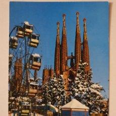 Postais: BARCELONA - TEMPLO / TEMPLE DE LA SAGRADA FAMILIA - NEVADA 1962 - P52328. Lote 269466648