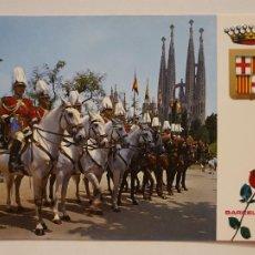 Postais: BARCELONA - TEMPLO / TEMPLE DE LA SAGRADA FAMILIA - SECCION MONTADA POLICIA MUNICIPAL - P52332. Lote 269467138