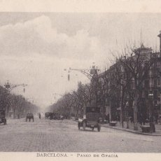 Postales: BARCELONA PASEO DE GRACIA. ED. LL Nº 22. POSTAL FRANCESA. Lote 269475393