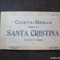 Postales: SANTA CRISTINA-PROCESION-BLOC CON 20 VISTAS POSTALES ANTIGUAS-FOTO ROISIN-VER FOTOS-(81.729). Lote 269732788