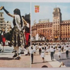 Postales: BARCELONA - PLAÇA CATALUNYA / PLAZA CATALUÑA - SARDANA - LAXC - P52740. Lote 269733823