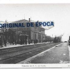 Postales: (PS-65809)POSTAL FOTOGRAFICA DE CERVERA-ESTACION DEL F.C.DEL NORTE. Lote 270146218