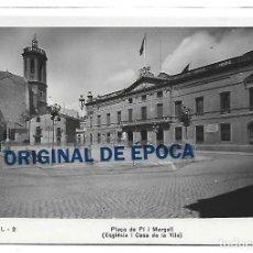 Postales: (PS-65813)POSTAL FOTOGRAFICA DE SABADELL-PLAÇA DE PI MARGALL(ESGLESIA I CASA DE LA VILA). Lote 270192418