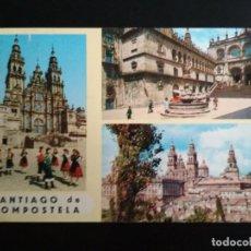 Postales: POSTAL MULTIVISTA SANTIAGO DE COMPOSTELA - CIRCULADA - EDICIONES ALARDE Nº 21. Lote 270380703